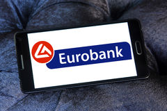 Eurobank logo Stock Photography