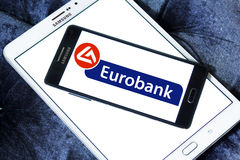 Eurobank logo Royalty Free Stock Photography