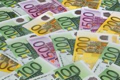 Eurobanknotehintergrund. Lizenzfreies Stockfoto
