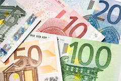 Eurobanknoten Stockfotos