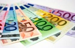 Eurobanknoten Stockfotos