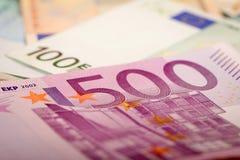 Eurobanknoten Lizenzfreie Stockfotos