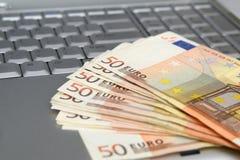 Eurobanknoten Stockfoto