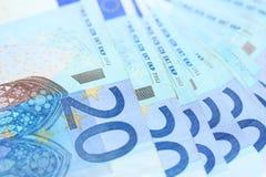20 Eurobanknoten Stockbild
