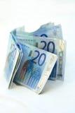 20 Eurobanknoten Lizenzfreie Stockfotografie