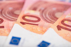 10 Eurobanknoten Stockfotografie