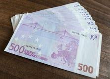 500 Eurobanknoten Stockbilder
