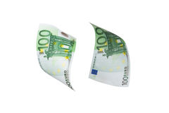 Eurobanknoten-Fliegen Lizenzfreies Stockfoto