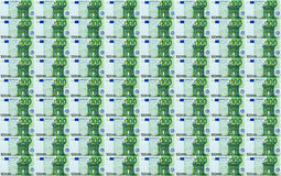 100 Eurobanknoten-nahtloser Hintergrund Stockfotos