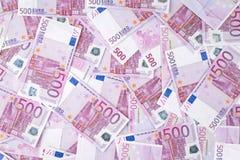 Eurobanknotenhintergrund Stockfotografie