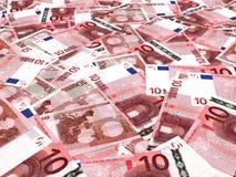 Eurobanknotenhintergrund Lizenzfreie Stockfotos