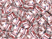 Eurobanknotenhintergrund Lizenzfreies Stockfoto
