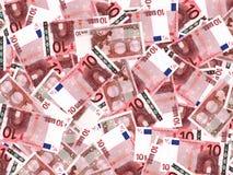 Eurobanknotenhintergrund Stockfoto