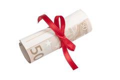 Eurobanknoterolle Lizenzfreies Stockfoto