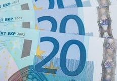 Eurobankwechsel Lizenzfreie Stockfotografie