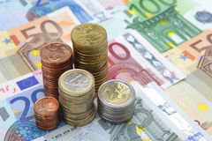 Eurobargeld Lizenzfreie Stockfotografie