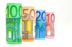 Eurobargeld-Banknoten Stockfotografie