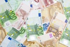 Eurobargeldhintergrund Stockbilder