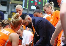 EuroBasket 2019 των γυναικών FIBA: Ουκρανία β Κάτω Χώρες Στοκ Φωτογραφία