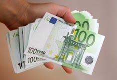 eurobetalning arkivfoto