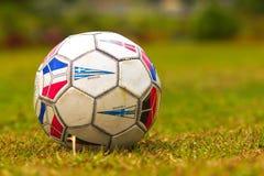 Euroboll på fält arkivfoto