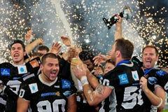 Eurobowl XXIII - Raiders van Tirol versus Flash DE La Cou royalty-vrije stock foto