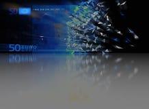 Eurobrechen 50 - abstrakter Hintergrund lizenzfreies stockfoto