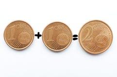 Eurocent Lizenzfreie Stockbilder