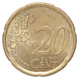 20 eurocent Arkivfoton