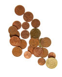 Eurocent coins Royalty Free Stock Photo