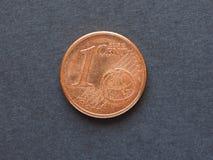 1 eurocent & x28; EUR& x29; mynt Royaltyfri Fotografi