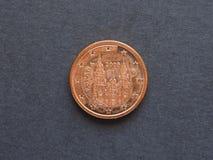 1 eurocent & x28; EUR& x29; mynt Arkivfoton
