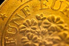 Eurocent fünf funf österreichische Euromünze Lizenzfreie Stockfotografie