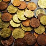 Eurocent monety Zdjęcia Stock