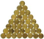 Eurocent muntstuk tien van de piramide Stock Afbeelding