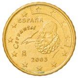 10 eurocent mynt - Spanien Fotografering för Bildbyråer