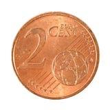 2 Eurocentenmuntstuk Stock Fotografie