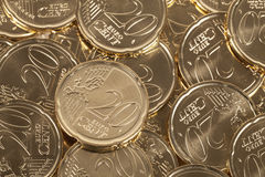 20 Eurocentmünzen Lizenzfreies Stockfoto