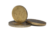 Eurocents Lizenzfreie Stockfotos