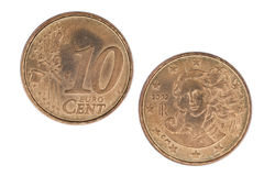 10 Eurocents Fotografia Stock