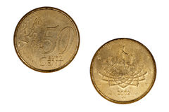 50 Eurocents Stock Image