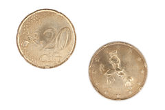 20 Eurocents Royalty Free Stock Photo