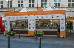 Eurochocolate, известный фестиваль шоколада в историческом центре Перуджа Стоковые Фото