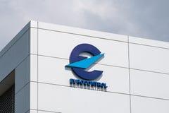 Eurocontrol sign and logo stock photos