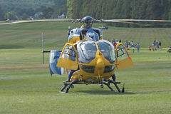 eurocopter飞行直升机生活 图库摄影