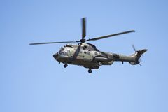 Eurocopter Cougar in flight. At an airshow stock images