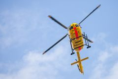 Eurocopter EC-135 от ADAC Luftrettung Стоковое Изображение RF