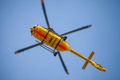 Eurocopter EC-135 od ADAC Luftrettung Zdjęcie Stock