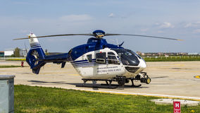 Eurocopter EC135 P2 - CN 0290. Eurocopter EC135 P2 (Romanian Police) - Construction Number 0290, Date of Manufacture 2003 stock photography