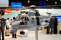 Eurocopter EC155 B1 military helicopter model Stock Photo